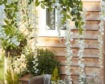 Wedding decoration etsy decorative white artificial wisteria wedding decorations home decorations party decorations rustic wedding junglespirit Images