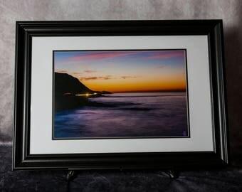 Framed Photograph: Malibu Lights
