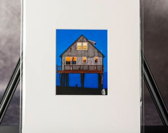 Matted Print: The Beach House