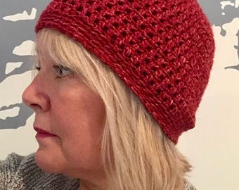 Soft Red Beanie