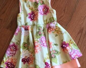 Girls full circle skirt dress