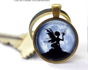 Fairy Shadow Key Ring • Kissing Fairy • Fairy Silhouette • Magical Shadow • Vintage Fairy • Fairy Accessories • Made in Australia (K490)