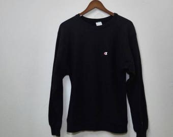 Vintage CHAMPION Sweatshirt Small Logo Design