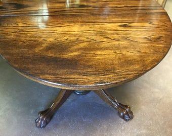 Beautiful Antique Oak Clawfoot Table!