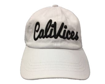White CaliVices Dad Cap
