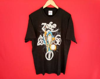 vintage Led zeppelin rock band music concert t shirt