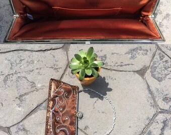 vintage purse, clutch, handbag with sequins