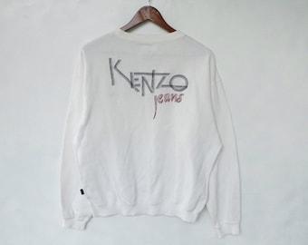 Vintage Kenzo Golf Embroidered  Big logo Spellout Jumper Sweatshirt Pullover