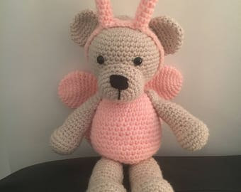 Crystal the teddy bear with wings
