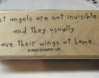 Quote Stamps, Rubber Stamps, Junk Journal Stamp, Stampin' up 2005, Angles