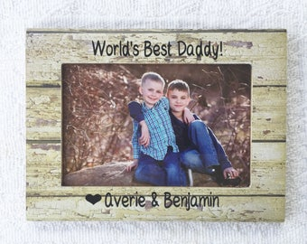 Worlds best dad personalized frame, Father's Day frame, personalized dad gift, dad frame, personalized frame, best dad ever frame