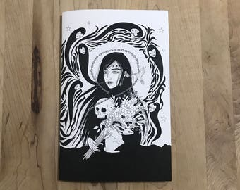 NIGHT BIRDS - art zine - black and white