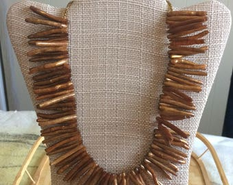 Vintage Golden Coral necklace