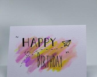 Paper Plane Birthday Card