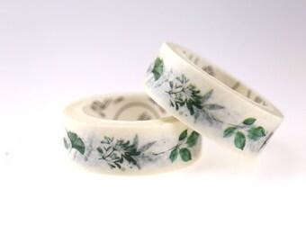 Leaves Washi Tape/Plantea Washi tape/ Masking tape/ japanese washi tape/Planner Supplies/OT089