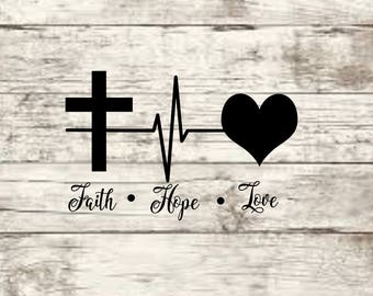 Faith Love Hope SVG