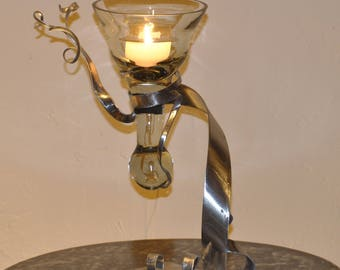 candle and holder in metal (9)