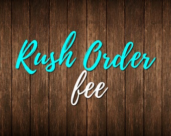 Rush Order! Less than 24 hrs!