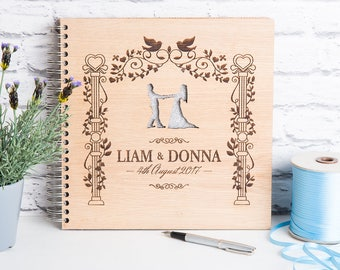 Wedding Guest Book, Personalised Book, Wedding Album, Wooden Wedding Gift, Personalised Wedding,  Alternative Guest Book, Wedding Gift