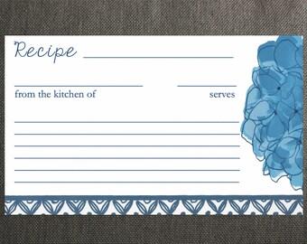 Hydrangea Recipe Cards
