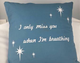 Decorative Pillow, Quote on Pillow, Heat Press Vinyl