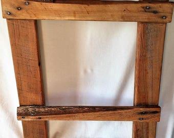 Barnwood Ladder Towel Rack
