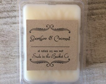 Bamboo and Coconut Soy Wax Melts /Scented Soy Wax Melt/ Farmhouse Natural Wax Melt All Natural