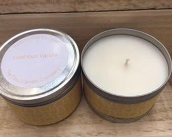 170g Luscious Vanilla tin candle