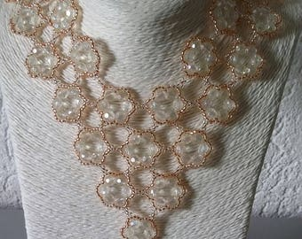 Bridal jewelry/pearls: Necklace, watch, bracelet and earrings