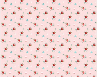 Pink Floral Flannel Fabric - Little Floral Pink - Riley Blake Fabrics - Perfect for Kid, Baby, Nursery