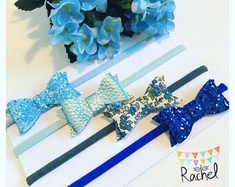 Blue Bows Set