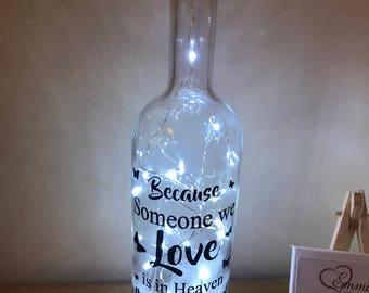 Loved one memory light up bottle