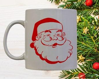 Santa Face Coffee Mug   Santa Coffee Mug   Christmas Mug   Coffee Mug   Holiday Gift   Holiday Mug   Christmas Gift   Christmas Coffee Mug