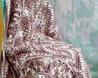 Gipsy Baby Blanket, Crochet Baby Blanket, Boho blanket, Hippie blanket, Baby Blanket, Girl Crochet Baby Blanket, Granny Square Baby Blanket
