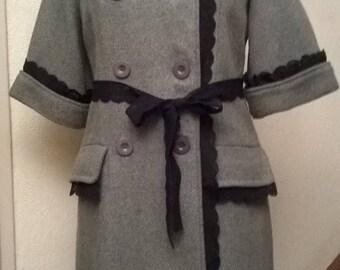 Wool and acrylic grey coats