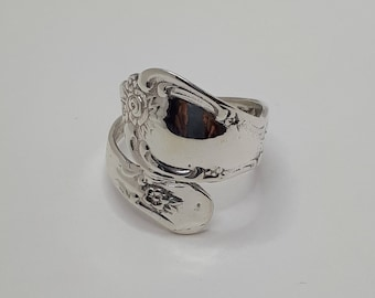 Spoon Ring, Sterling Silver, Spoon Rings, Heavy Silver Ring, Spoon Silver Ring, Spoon Jewelery, Cutlery Ring, Flower Ring, Heavy Ring