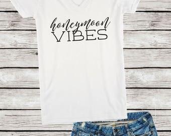 Honeymoon Vibes V-Neck Shirt