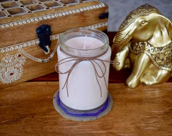 Patchouli scented soy candle