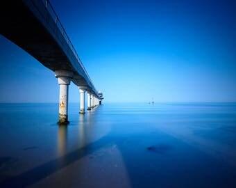 Lifeboat Station, bembridge, isle of wight, blue, sea, sun, photography seaside, beach, wall art
