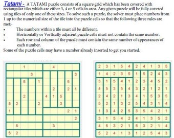 Printable Japanese Puzzle Sampler - 6 different puzzles-2 of each + solutions + guide