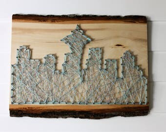 Seattle Skyline String Art
