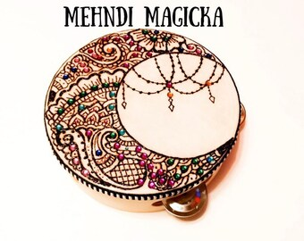 Moon Henna Small Tambourine