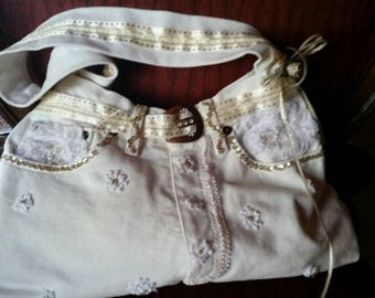 Recycled  Jean hand bag