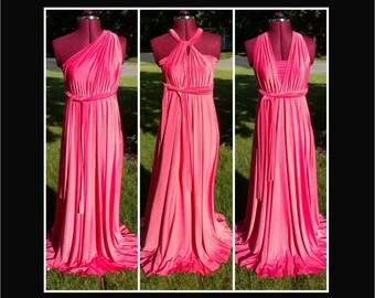 Pink full length infinity dress