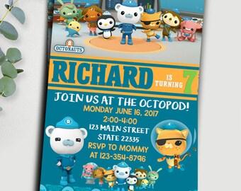 Octonauts / Octonauts Invitation / Octonauts Birthday / Octonauts Party Invitation / Octonauts Birthday Invitation / Pctonauts Printable