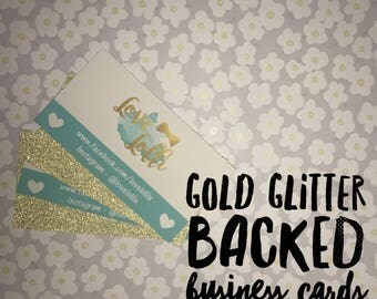 Gold Glitter Backed Business Cards-Small Businesses
