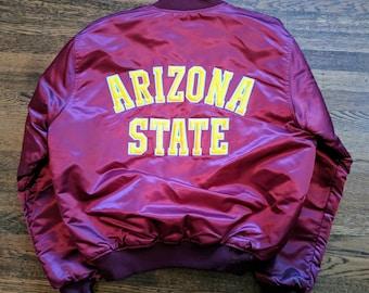 Arizona State Vintage Starter Jacket XL Satin NCAA Sun Devils Rare 90s