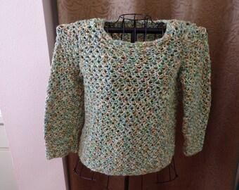 Ladies hand crocheted sweater