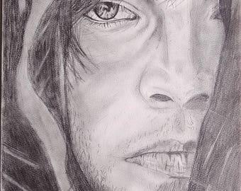 Man graphite portrait