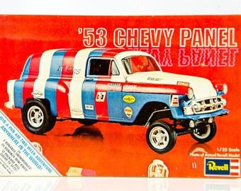 Ultra Rare Vintage Revell 1953 Chevy Panel Van 1/25 Scale Model Car Kit H1219225